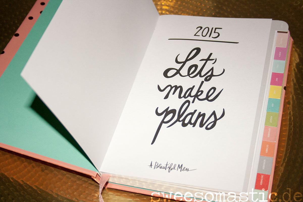 Kalender 2015, geöffnet