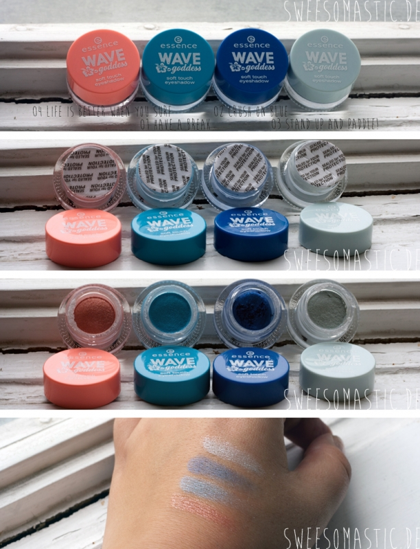 Wave Goddess Trendedition von Essence: Soft Touch Eyeshadow